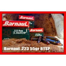 Cartuccia da carabina 223 Rem 55grs SPBT conf. 20 pezzi (Barnaul)