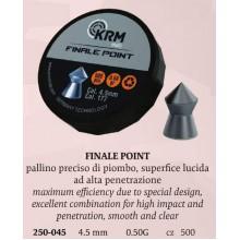 Piombini FPP Finale Point cal. 4,5mm 0.50g conf. 500 pezzi (KRM)