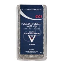 Munizione CAL.22 MAGNUM MAXI-MAG+V 30GR JHP 0059 50 pezzi (CCI)