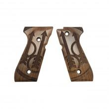 Set guance in legno per serie 92 - Modello Big Logo Beretta