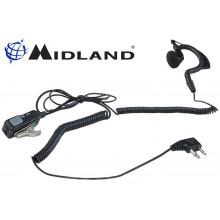 Auricolare Midland MA21-L a padiglione con microfono 2 Pin