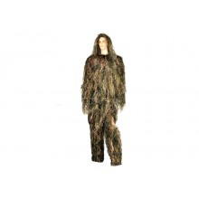 Ghillie Sniper Woodland Giacca-Cappello-Pantaloni