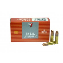 Cartucce cal. 22 LR 2,59g 40grs conf. 50 pezzi 1274fps Ultrasonic (Fiocchi)