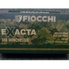 Cartucce Fiocchi Exacta Cal. 308win palla Sierra 168grs HPBT Conf. da 20pz