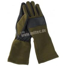 Guanti in pelle/nomex Olive Tg. XL (Mil-Tec)