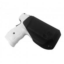 Fondina tactical gear in Kydex per pistola PDP al peperoncino della Walther nera